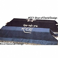 casket covers, Jewish casket covers