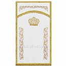 Parochet - White Parochet & Torah ark curtains - High Holidays
