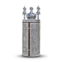 Sephardic Torah Case - Sterling Silver Sefer Torah Scroll Cases