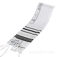 Tallit / Prayer Shawl - Wool Black/Gold