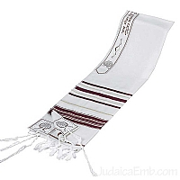 Tallit / Prayer Shawl - Wool Maroon/Gold