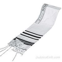 Tallit / Prayer Shawl - Synagogue Quality - Black