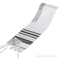 Tallit / Prayer Shawl - Synagogue Quality - Black/Gold