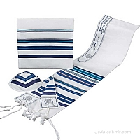 Tallit / Prayer Shawl - Blue Multi Colors