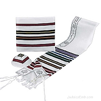 Tallit / Prayer Shawl - Red Multi Colors