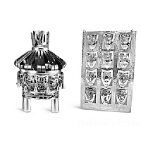 torah crown, breastplate, silver torah ornaments set