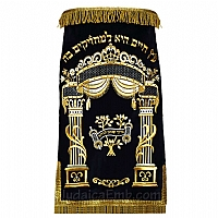Torah mantles & Torah covers - White Torah covers & High Holidays Torah mantles