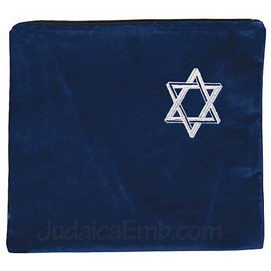 Tallit Bag Star of David Royal Blue