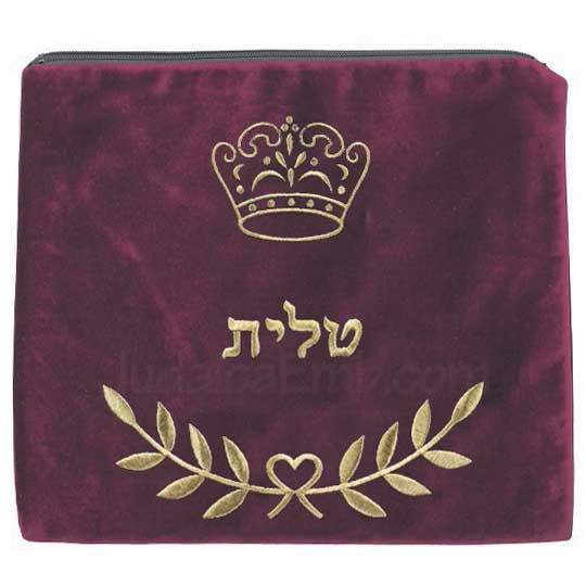 Tallit Bag Crown Maroon