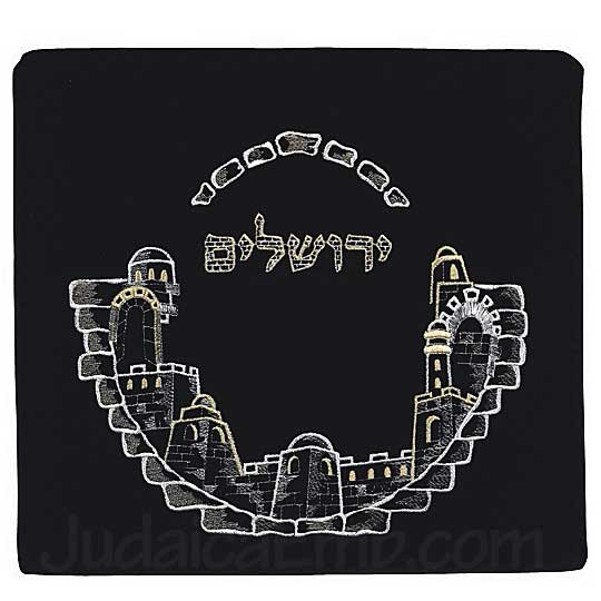 Tallit Bag Jerusalem Black