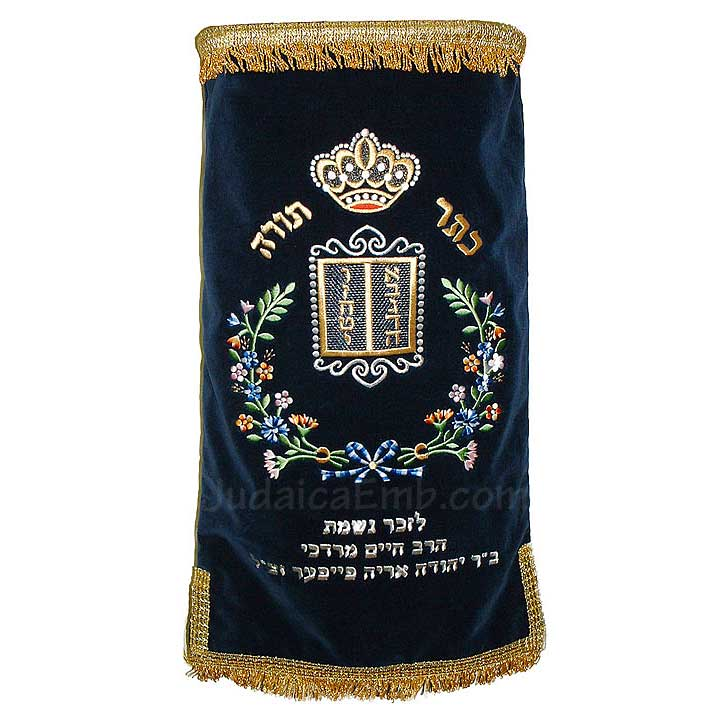 Floral Design Torah Mantle